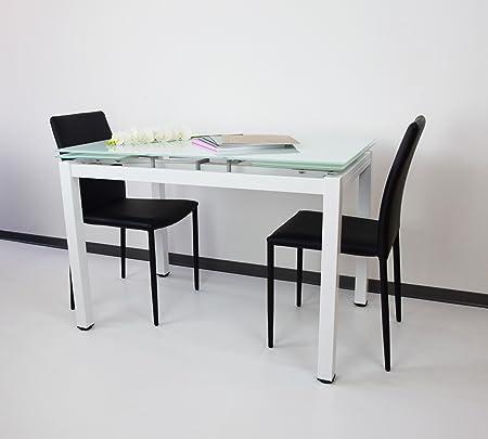 MIT Design Store Mesa Extensible hasta a 180 cm de Cristal Marte ...