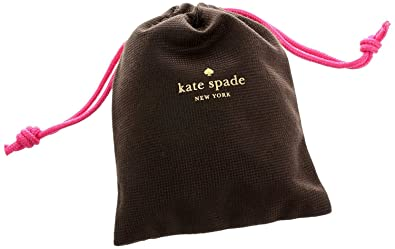882bd5babb8f Kate Spade Woven Brown Dust Bag with Gold Letters and Pink Drawstring  Colsure (Extra Small
