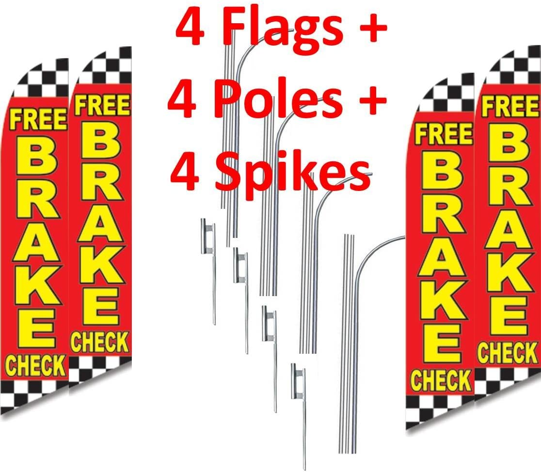 three 3 FREE BRAKE CHECK 15 SWOOPER #3 FEATHER FLAGS KIT