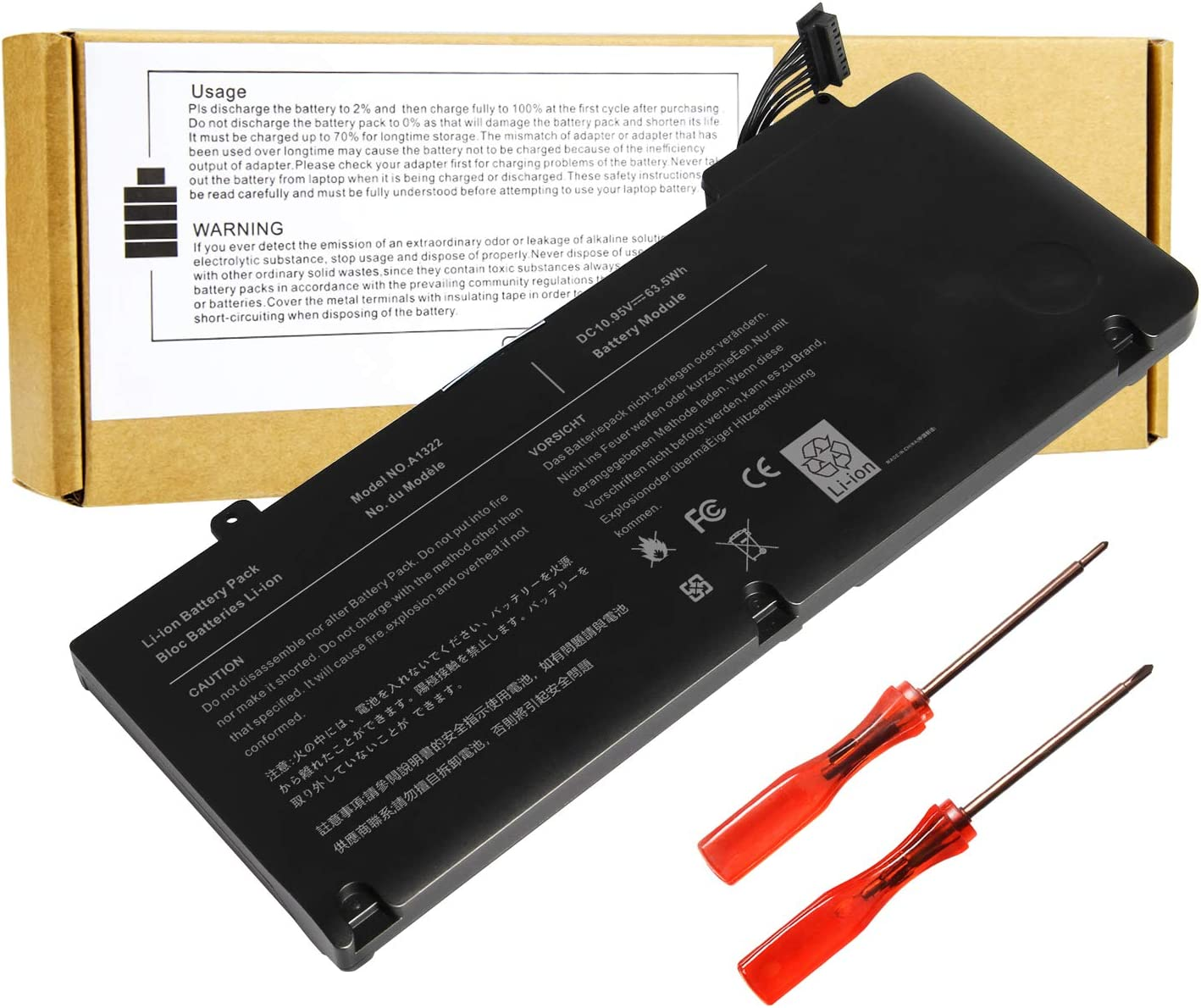 Laptop Battery Replace for Apple MacBook Pro 13 inch A1278 A1322 Mid 2009 2010 Early 2011 2012