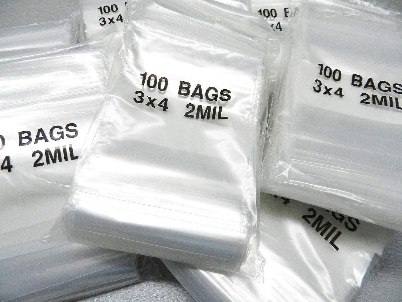 "2000 4x6 Reclosable Resealable Clear Ziplock Plastic Bags 4Mil 4/"" x 6/"""