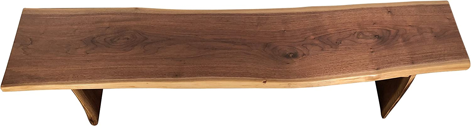 Amazon Com Live Edge Wooden Bench Solid Wood Dining Bench Rustic Home Decor Furniture Natural Edge Wooden Slab Bench 5 Long Walnut Wood With Clear Coat Table Benches