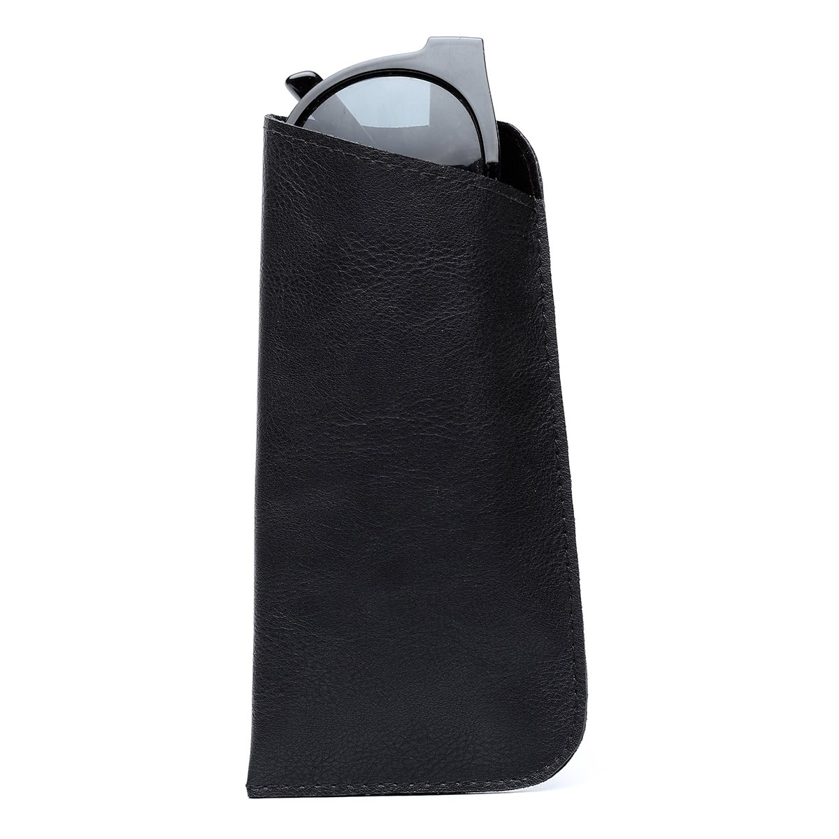 2 Pack Polemax Soft Slip in PU Leather Eyeglasses Sunglasses Pouch Case Portable Glasses Protection Bag