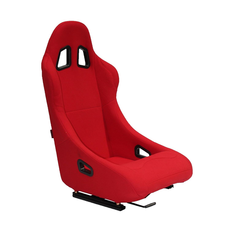 Modelo N010R Rojo de Tela con R/íeles incluidos Universal para Coche y Simulador de Conducci/ón MODAUTO Asiento Deportivo Coche Conductor y Pasajero Baquet Deportivo
