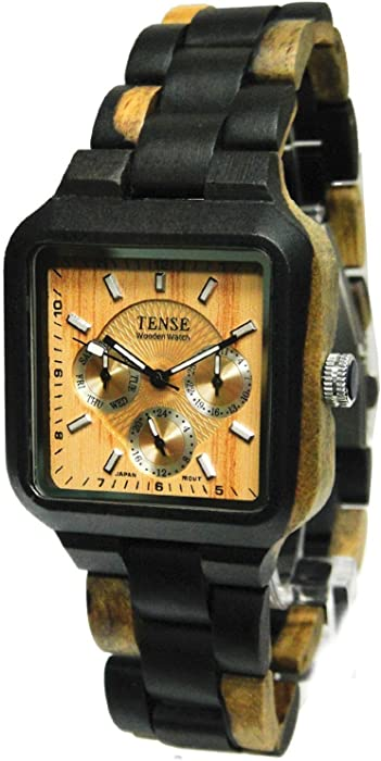 99b106ca327 Amazon.com  Tense Wooden Watch - Summit Collection  Watches