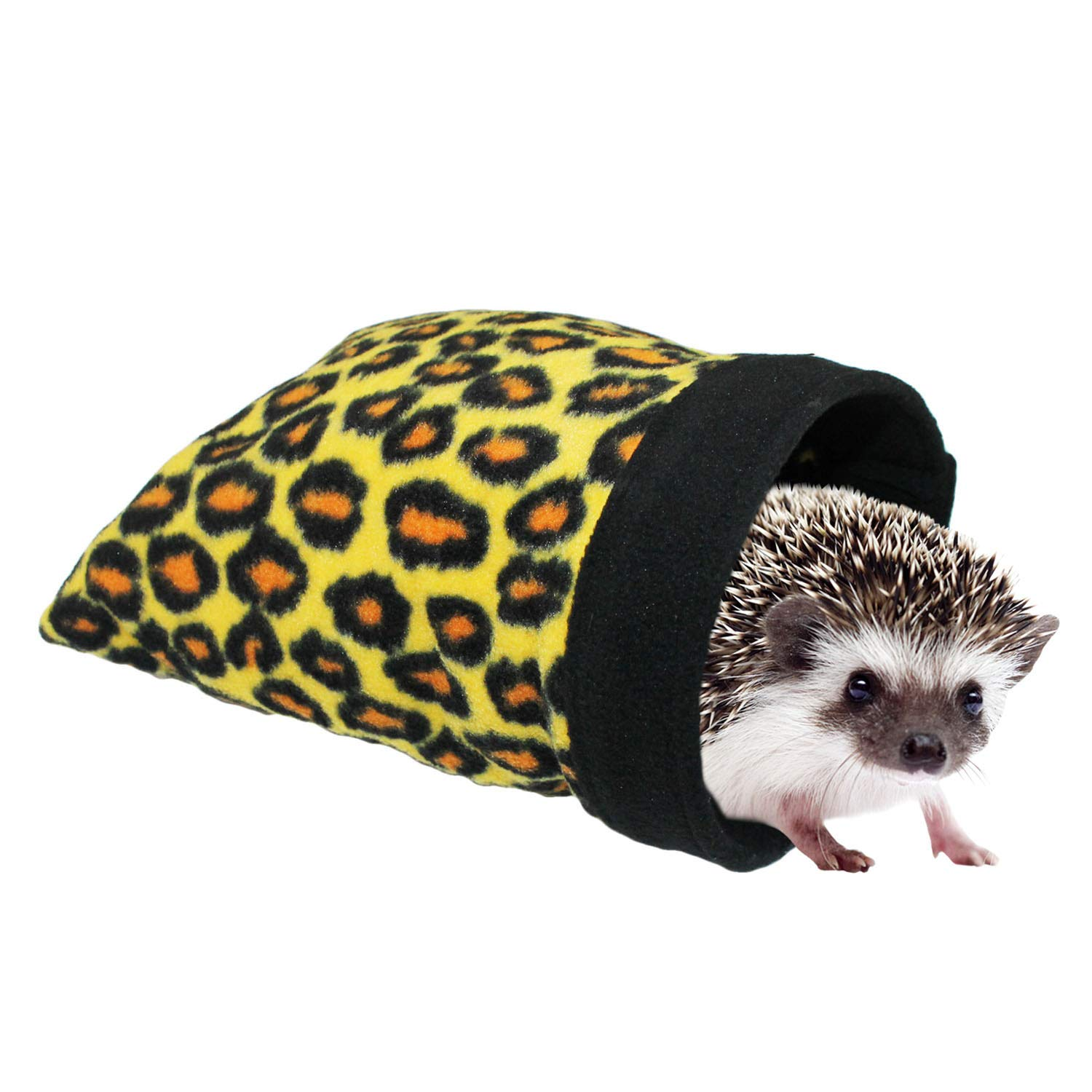 Exotic Nutrition Hedgie Pouch (Leopard) - Hideout/Hut/Sleep Bed/Den for Hedgehogs, Sugar Gliders, Chinchillas, Rats, Ferrets, Guinea Pigs, Rabbits, Hamsters, Squirrels