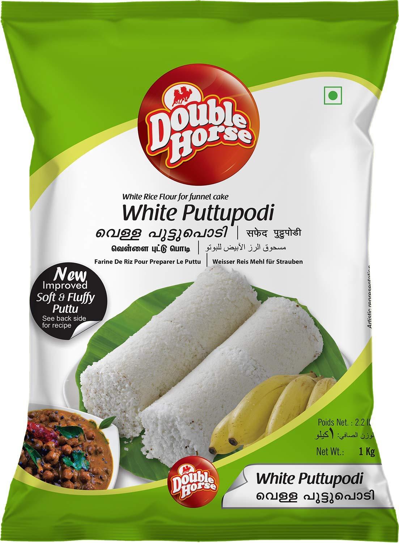 Double Horse Puttu Podi White
