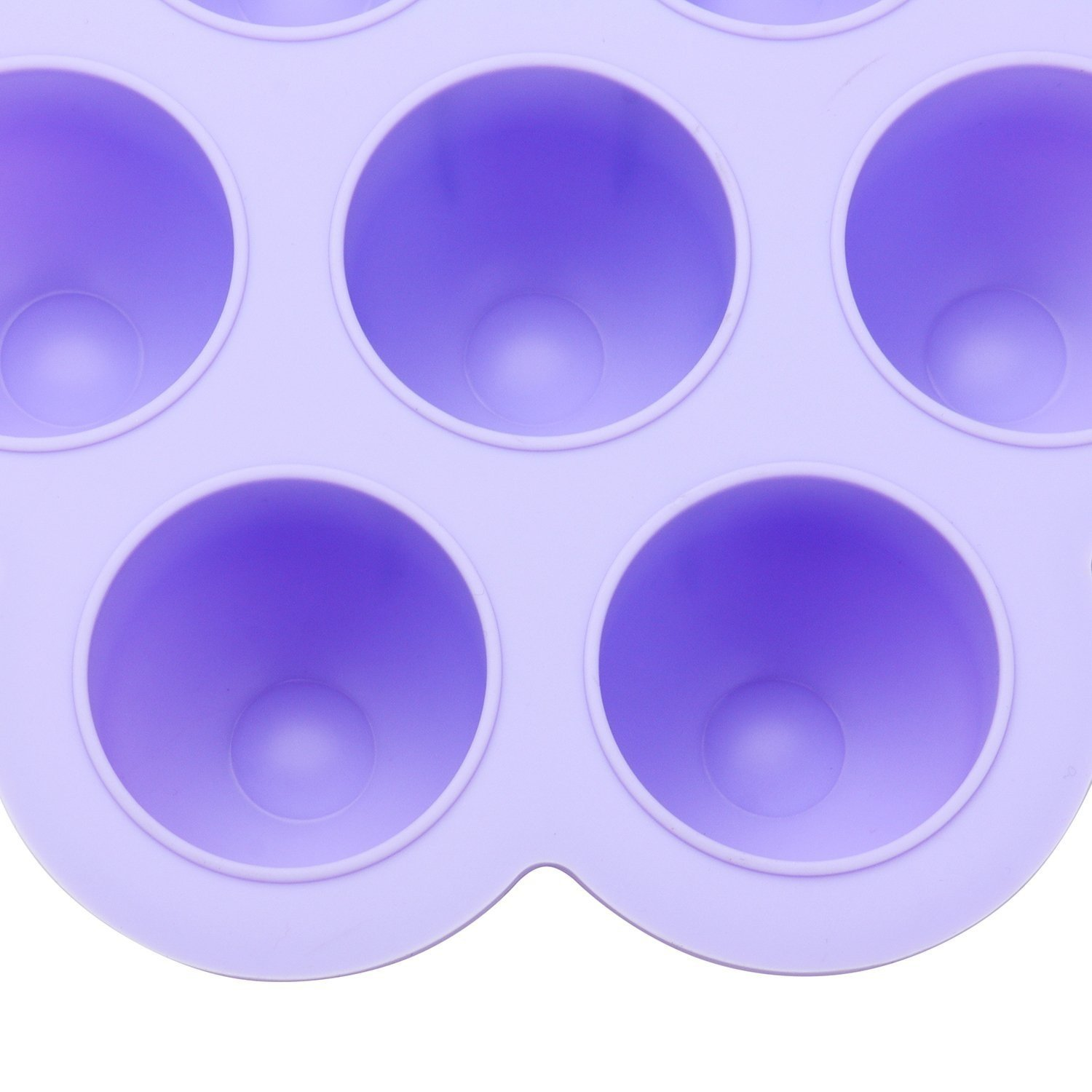 Pensenion Silicone Egg Bites Mold, Baby Food Storage Container Freezer Tray with Lid, 7 Holes Mold Reusable - Blue