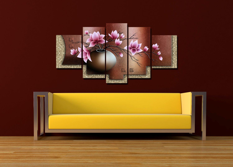 Amazon.com: Deehong Art - Magnolia Flower Abstract Modern Oil ...