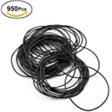 Yosoo 950pcs O Ring Watch Back Gasket Rubber Seal Washers Set Watch Gaskets kit Replacement O-rings for Watch Backs Size 12-30mm,0.7mm