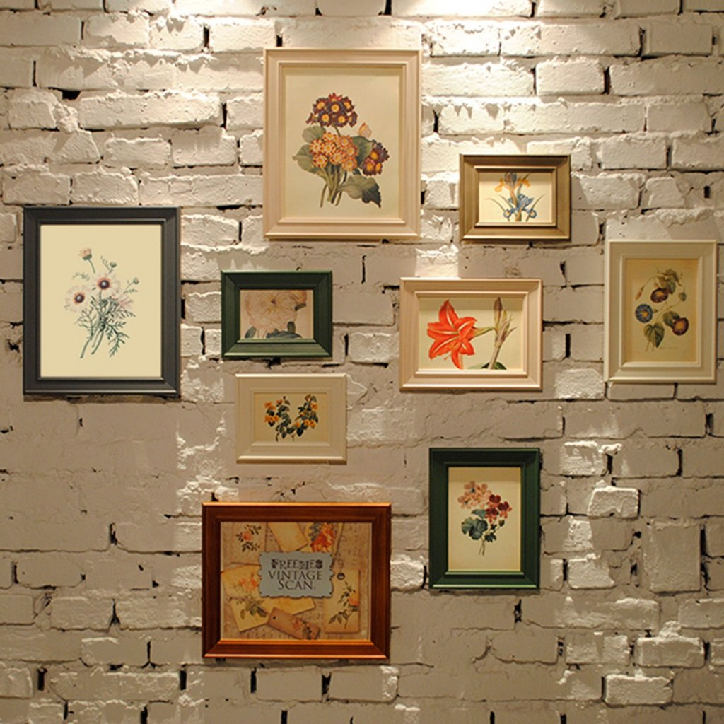 European Simplicity Solid Wood Picture Wall Photo Frame Modern Living Room Creative Photo Combination