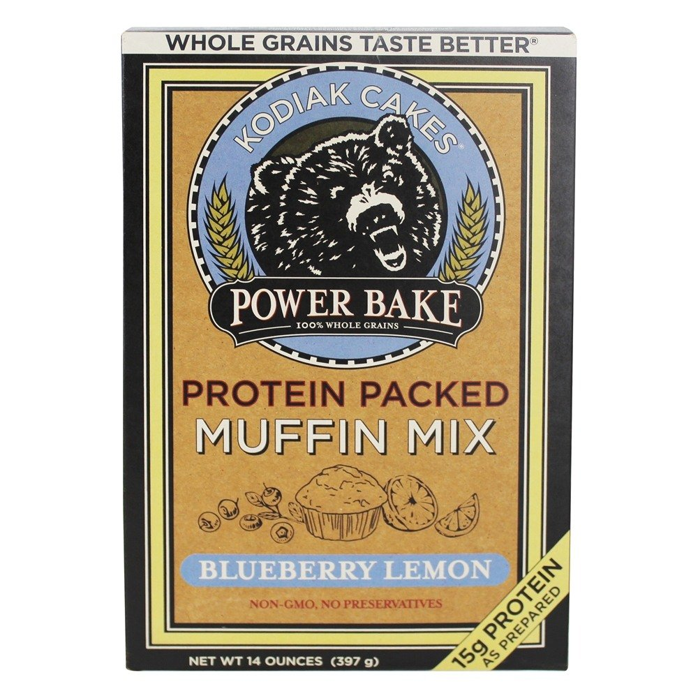 Kodiak Cakes Power Bake, Non GMO, Protein Packed Muffin Mix, Blueberry Lemon, 14 Ounce - No Preservatives