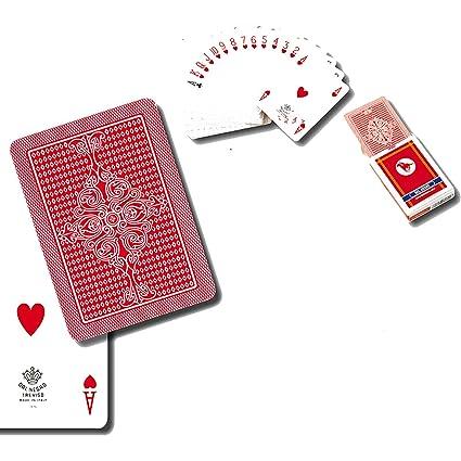 Dal Negro 24130 Cartas Poker S. Siro A1 Rojo Plástico ...