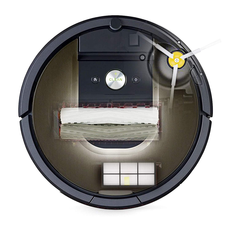 ARyee Kit de Repuesto para aspiradora iRobot Roomba 805 860 870 871 880 890 960 980 Piezas de Repuesto con 1 Juego de extractores 8 filtros 1 Cepillo peque/ño 4 cepillos Laterales y Tornillos