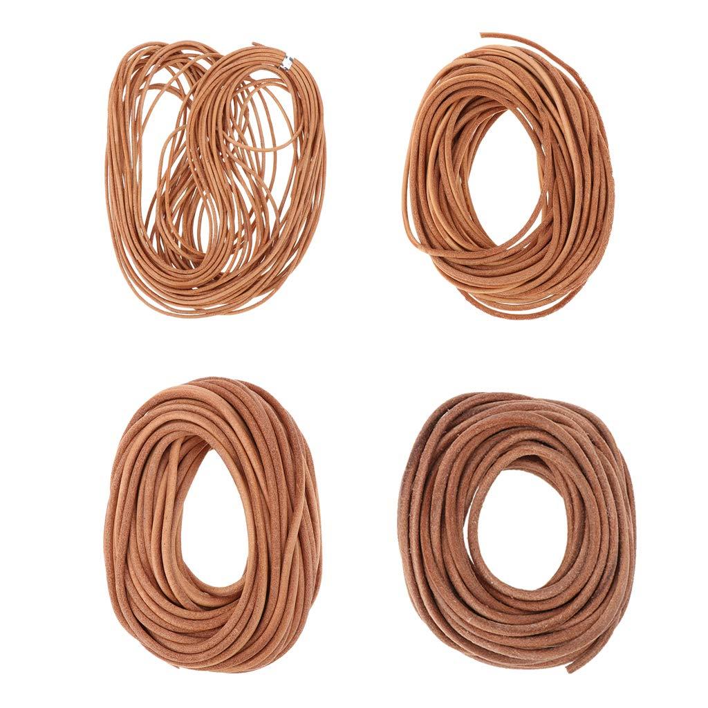 1.5 Mm, 2.5 Mm, 3 Mm, Di/ámetro De 4 Mm - 1 Rollo De Cord/ón De Cuero De 10 Metros, Cuerda De Cuero para Joyer/ía - 1.5mm IPOTCH