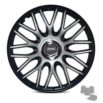 Tapacubos para ruedas compatibles con casi cualquier modelo de coche, incluye4 tapas de válvula