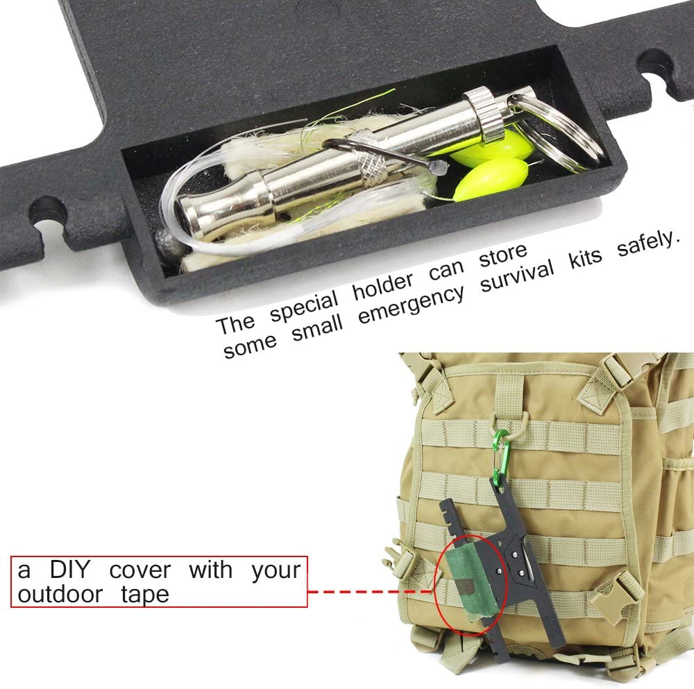 POWER PARACORD Spool Tool Paracord Organizer with Tidy Holder Parachute Cord Winder Paracord Keeper Paracord Spool Brown
