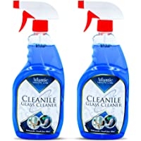 Atlantic streak-free glass cleaner and window glass cleaner spray (Pack of 2)