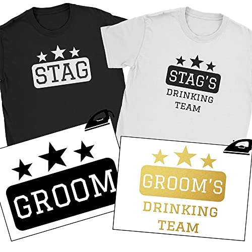 STAG s IRON // HEATPRESS TRANSFER Stag//Hen Night Choice of Colours