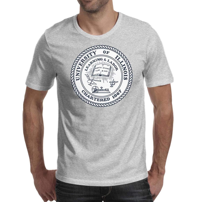 Jdadaw University Of Illinois At Urbana Champaign Logo Short Sleeve T Shirt Printing T Shi