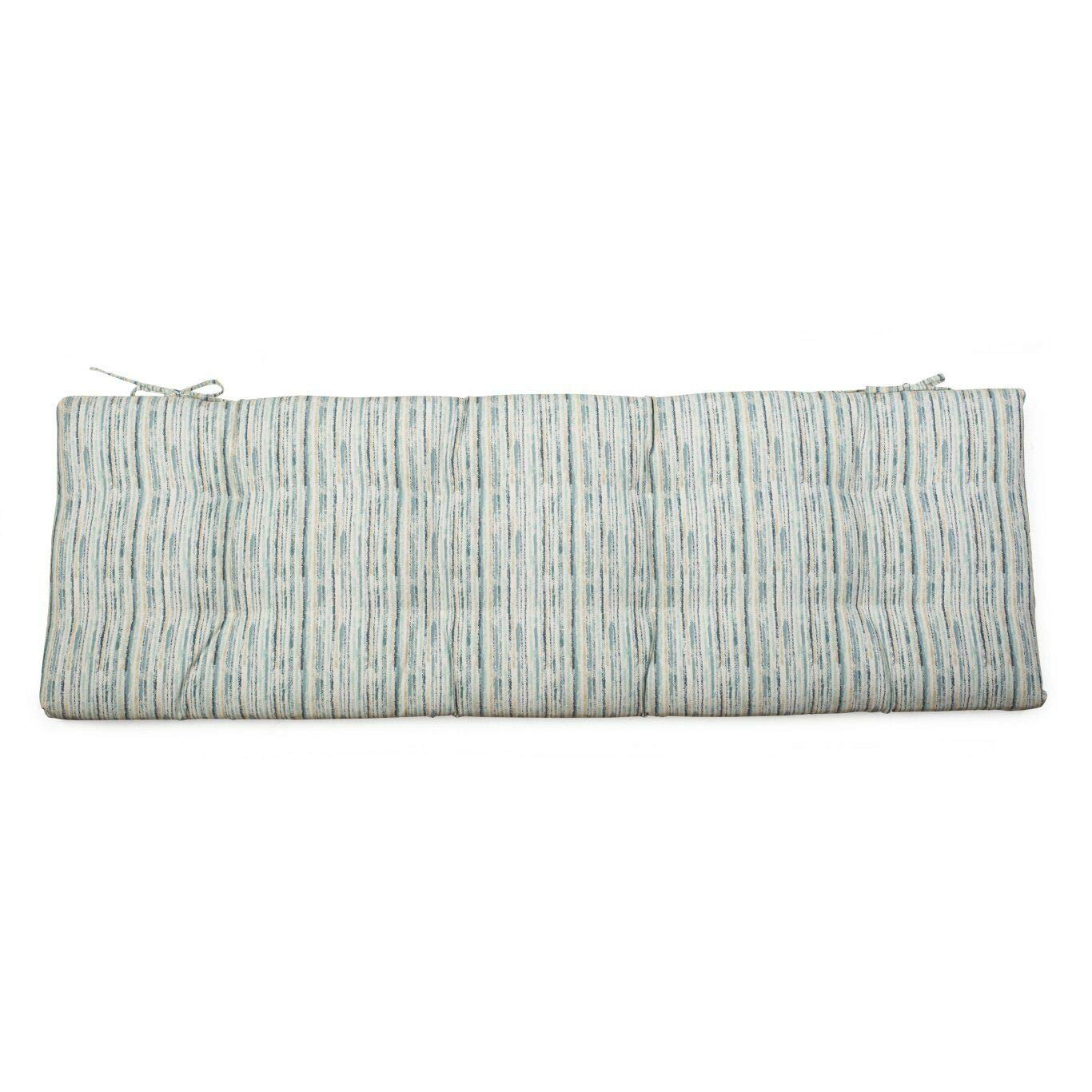 DN_HOM Wonderful Outdoor 55'' Tufted Bench Cushion Pad Collection for Patio Furniture (Blue Stripe) by DN_HOM