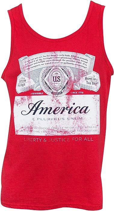 38935ac4376af6 Amazon.com  Budweiser America Tank Top Medium Red  Clothing