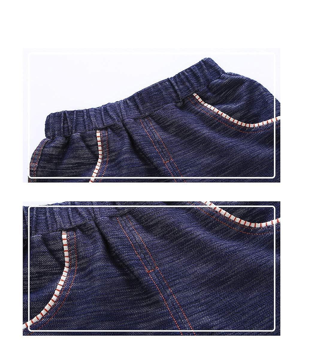 FCQNY Kid Boy Summer Short Sleeve Cotton Striped T-Shirt Tee Tops+Shorts Set 2Pcs