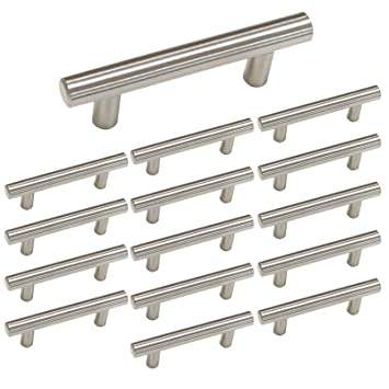 Inch T Bar Kitchen Cabinet Handles Brushed Nickel Homdiy HD - Amazon kitchen cabinet handles