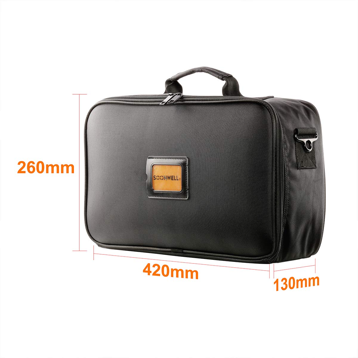 SOONWELL Durable Light Kit Bag Durable Nylon Case Studio Carrying Case with Shoulder Strap Padded Side Panels for Photography or Video