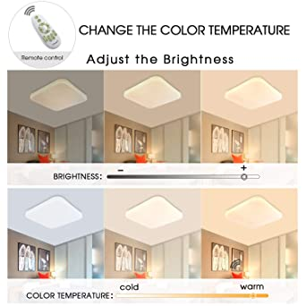 Dimmbar Deckenleuchte LED Badezimmer Küche Schlafzimmer Deckenleuchten  Wohnzimmer Korridor Balkon Flur Bad Deckenlampe 3000/4000/6000K Moderne ...
