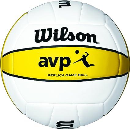 Wilson AVP Bola, Hombre, Blanco/Amarillo, 7: Amazon.es: Deportes y ...
