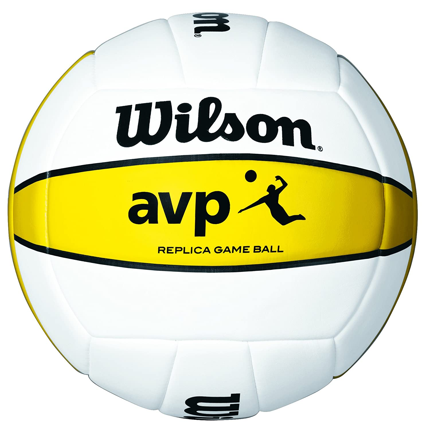 Wilson AVP Bola, Hombre, Blanco/Amarillo, 7 Wilson Teamsport AVP REPLICA deportes y aire libre; volleyball; volley playa; accesorios volleyball; balón volleyball