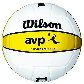 18c1b68872b9d Wilson Ballon de Volleyball, Extérieur, Pour Joueurs de Club, AVP Replica,  Blanc