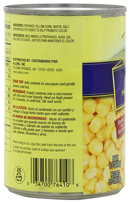 Allens Golden Hominy, 15.5000-Ounce (Pack of 12)