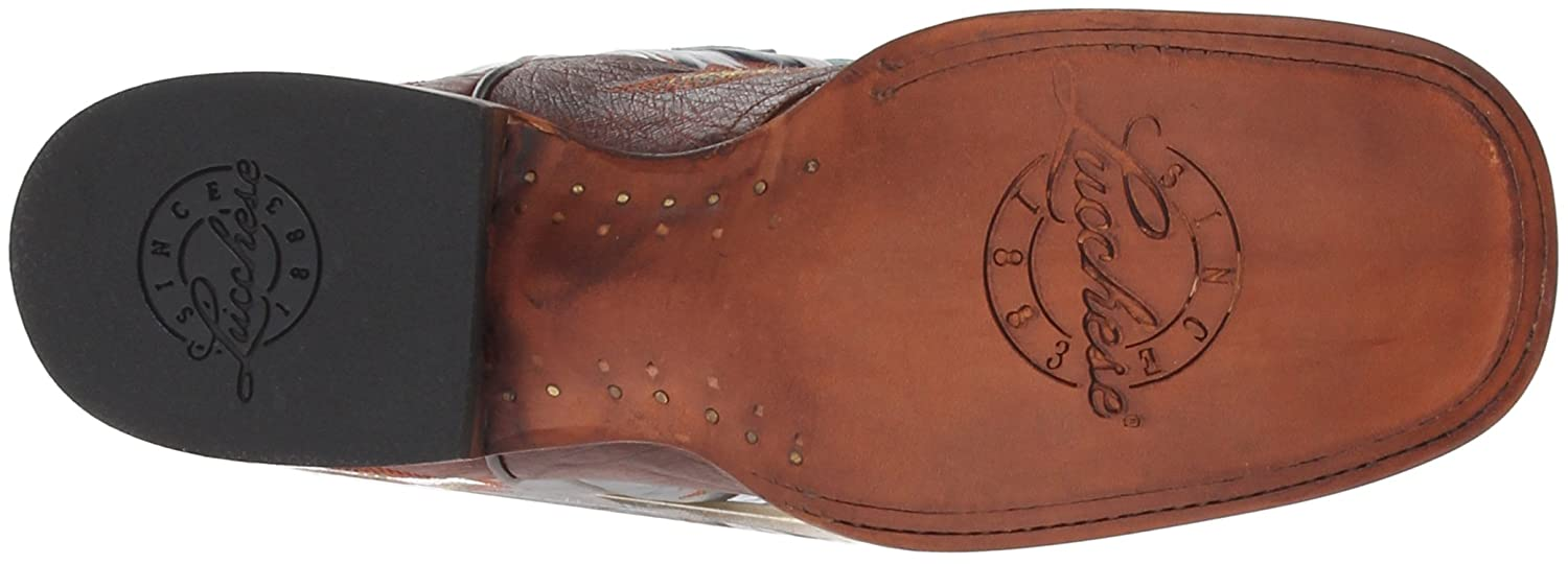 Lucchese Bootmaker Women's Amberlyn Western Boot B00BVGLH72 7 B(M) US|Sienna
