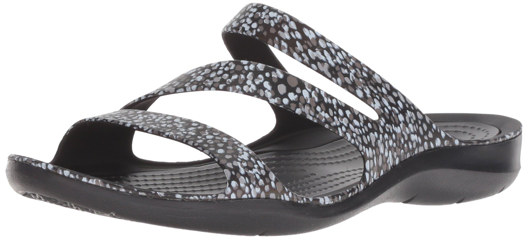 Crocs Women's Swiftwater Graphic W Sport Sandal, Dots, 11 M US