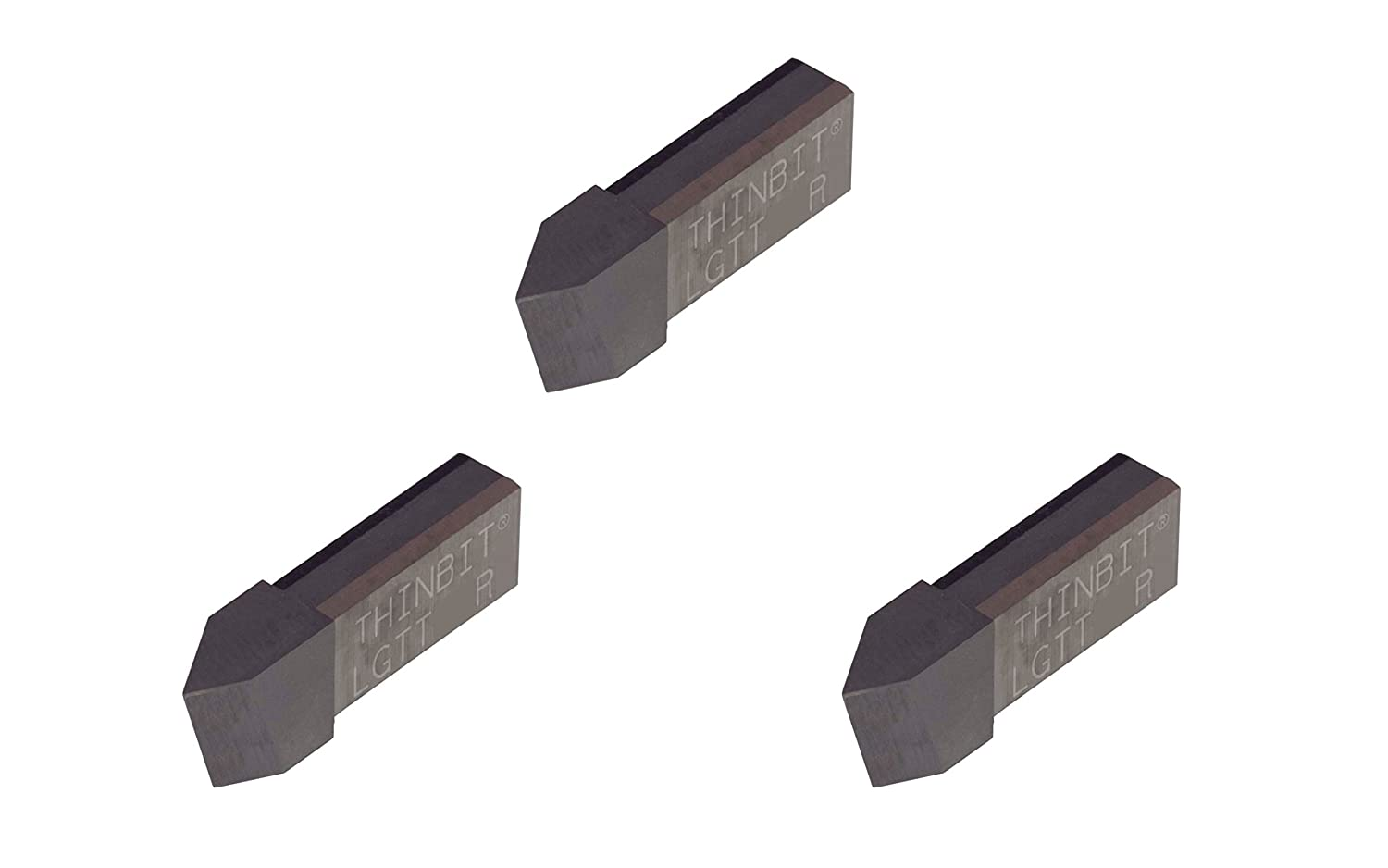 Threading Insert for 8 to 56 TPI in Plastics Abusive Cutting Conditions and Low RPM Cutting Composites THINBIT 3 Pack LGTTHSR L Series Uncoated High Speed Steel