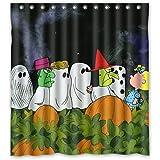 Custom Halloween Dark Night Scary Ghost Waterproof Polyester Shower Curtain 66x72