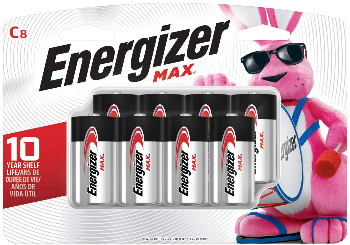 Energizer C Batteries Max Alkaline, 8Count (Pack of 8) by Energizer