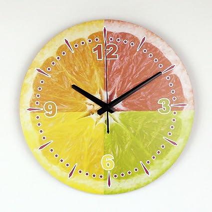 Orologio Da Parete Moderno Della Parete Del Limone Di Grh Con La