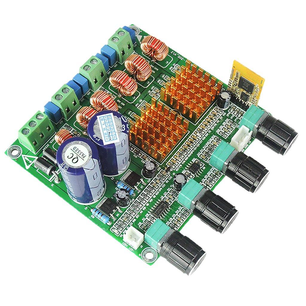 P Prettyia 4.0 Digital 2.1 Clase D HiFi Placa De Amplificador De Potencia 3ch Bajo Ampl