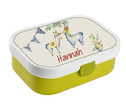 Lunchbox Brotdose Obsteinsatz mit Name Mädchen Vogel viele Motive zur Auswahl