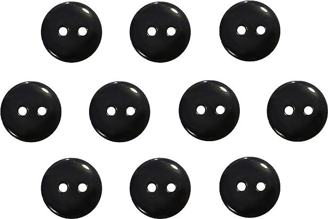 Seeking ROAM Buttons 2 Hole, 1/2 Inch, Resin, 10 Pieces, Black (Black)