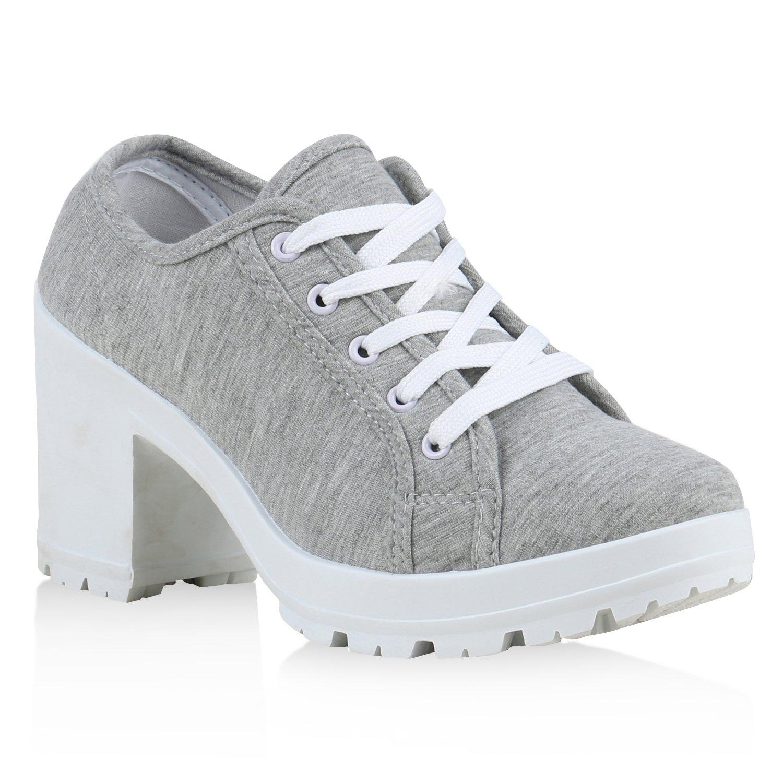 Stiefelparadies gris , chaussures compensées Stiefelparadies femme gris 6638 clair c5d4bab - automaticcouplings.space