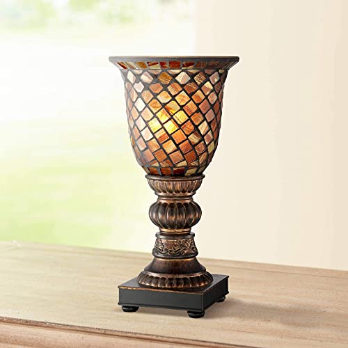 torchiere table lamp small uplight table mosaic brown glass 12 torchiere table lamp amazoncom
