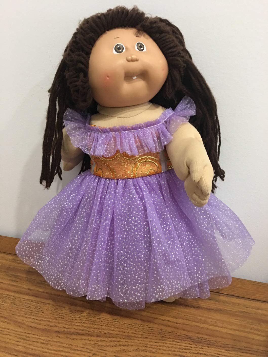 Fits 16' 17' 18' Cabbage Patch Kids Doll Clothes Party Tulle Off the Shoulder Purple Dress NO DOLL Handmade