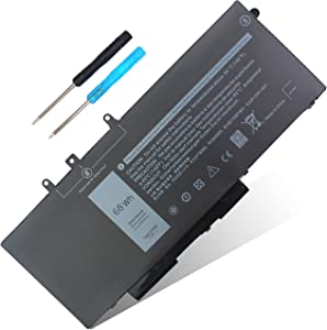 68WH GJKNX Battery Replacement for Dell Latitude 5480 E5480 E5580 E5490 E5491 E5590 E5591 Precision 15 3520 M3530 GD1JP DY9NT 0DY9NT 451-BBZG