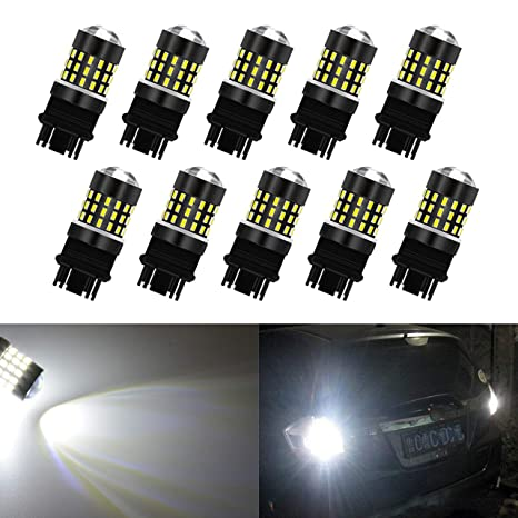 2-pack Tail Brake Lights ENDPAGE 3157 LED Bulb White 6000K 1000 Lumens Super Bright 12-24V Non-Polarity Turn Signal Blinkers Replacement for 3156 3057 3056 and Works as Back Up Reverse Lights