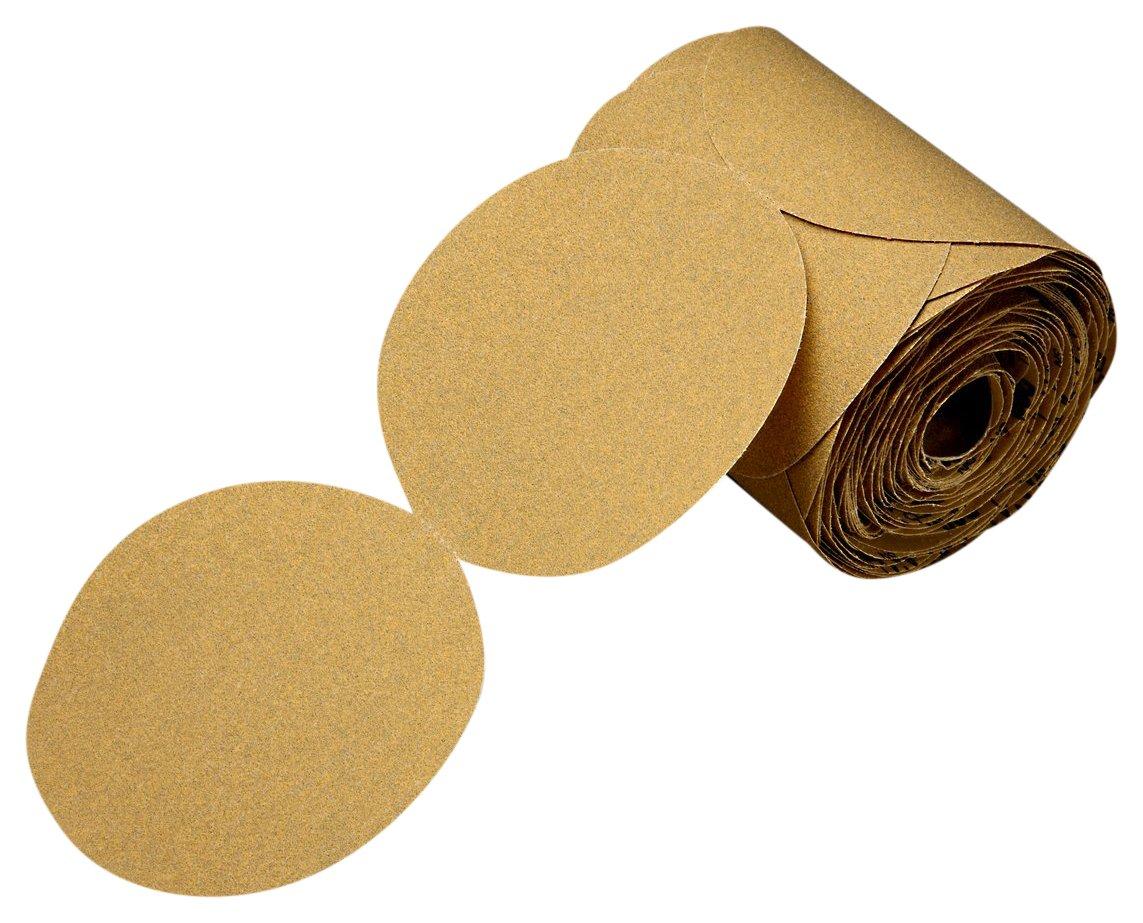 3M 01418 Stikit Gold Paper Disc Roll 216U Abrasive Grit 5 x NH P360 A-weight Aluminum Oxide 3.45 Length 5 x NH P360 A-weight 3.45 Length