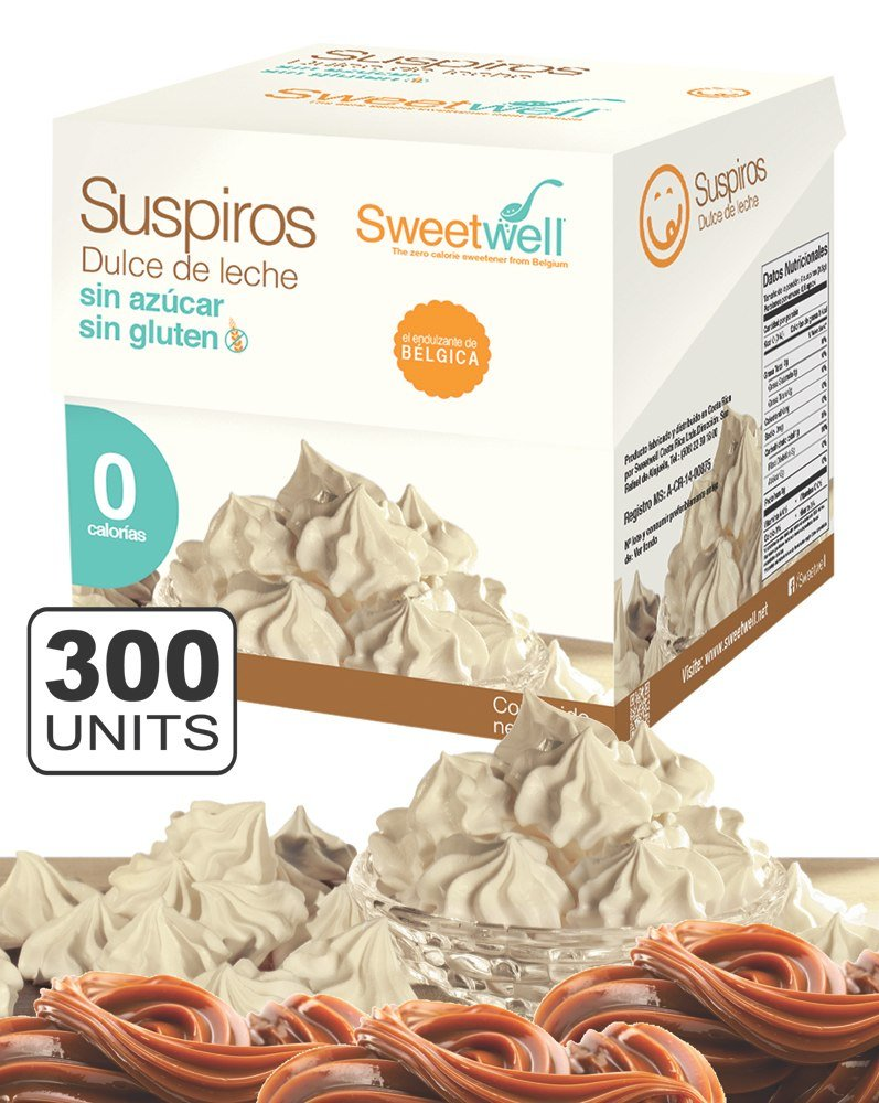 Sweetwell Sugar Free Meringue Cookies, Milk Candy - 300 units (10 bags of 30 units).